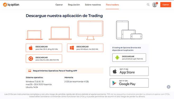 IQ Option Mobile App.